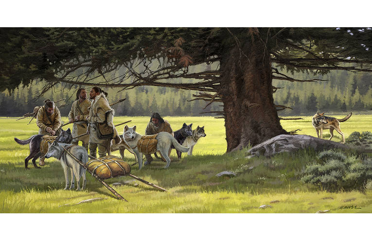 Dan Burr Early Men and Dogs